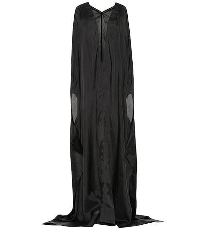 Satin cupro maxi dress
