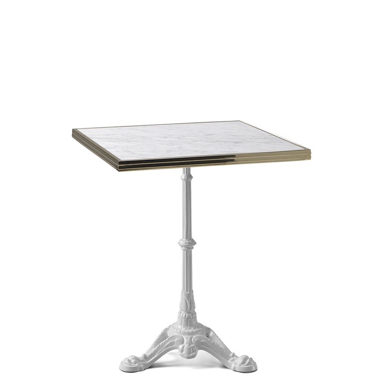 Ardamez Square White Marble Haussmann Bistro Table Top - Designerie