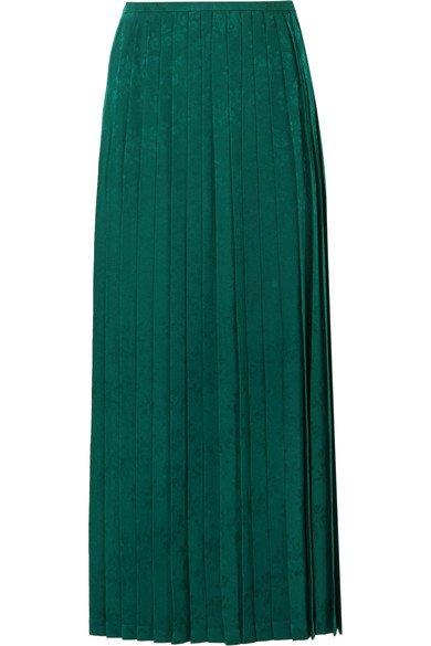 Vilshenko | Beatrix pleated crepe-jacquard midi skirt | NET-A-PORTER.COM