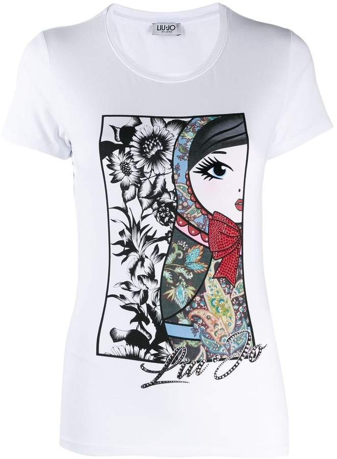 Russian Doll print T-shirt
