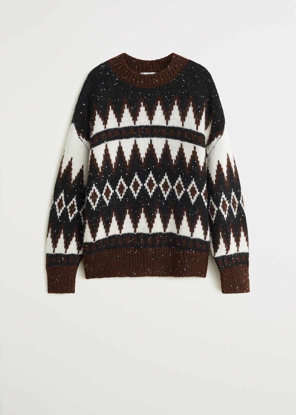 Knit paillette sweater - Women   Mango USA