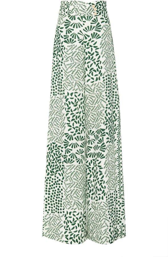 Neassa High Waisted Cotton Flare Pant