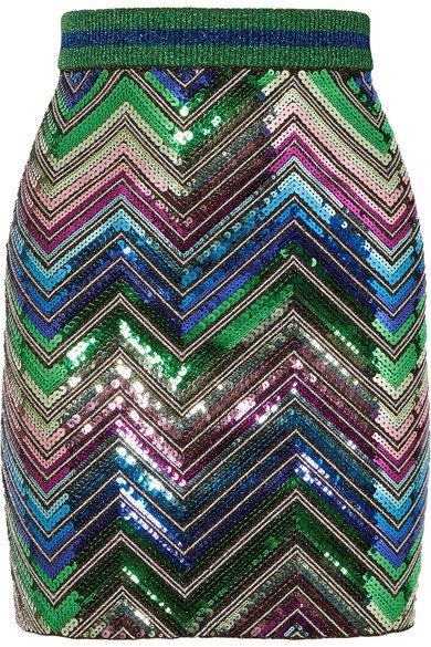 Gucci | Sequined stretch-knit mini skirt | NET-A-PORTER.COM