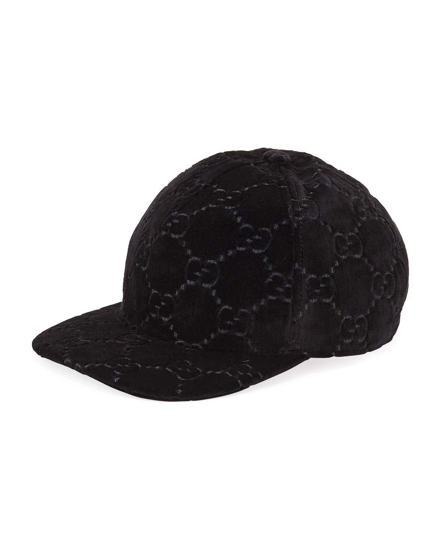 Gucci GG Supreme Velvet Baseball Hat