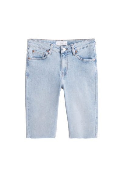 MANGO Cyclist denim bermuda