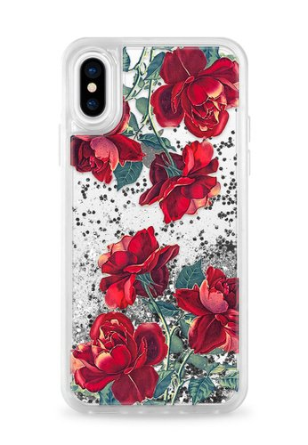 Silver Phone Case With Flowers