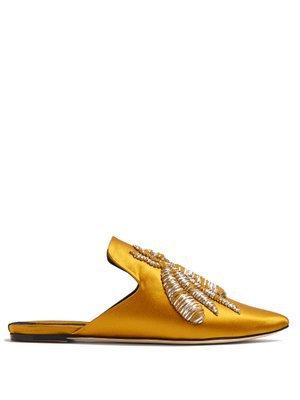 Cilegia cherry-embroidered slipper shoes   Sanayi 313   MATCHESFASHION.COM