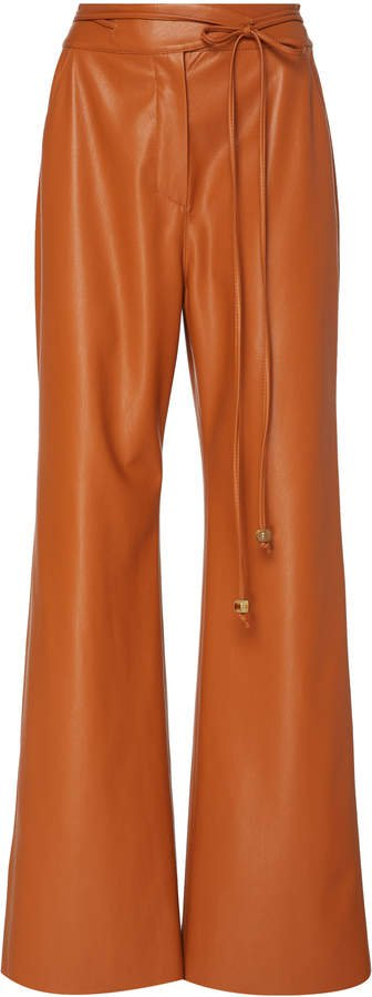 Chimo Vegan Leather Wide-Leg Pants