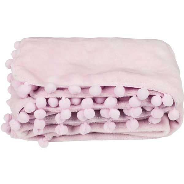 Manta Soft Pompons Rosa - Baby Joy - REF-04002102020001 - lojasbaby