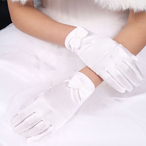 Elastic Satin / Polyester Wrist Length Glove Classical / Bridal Gloves With Solid 2019 - US $4.99
