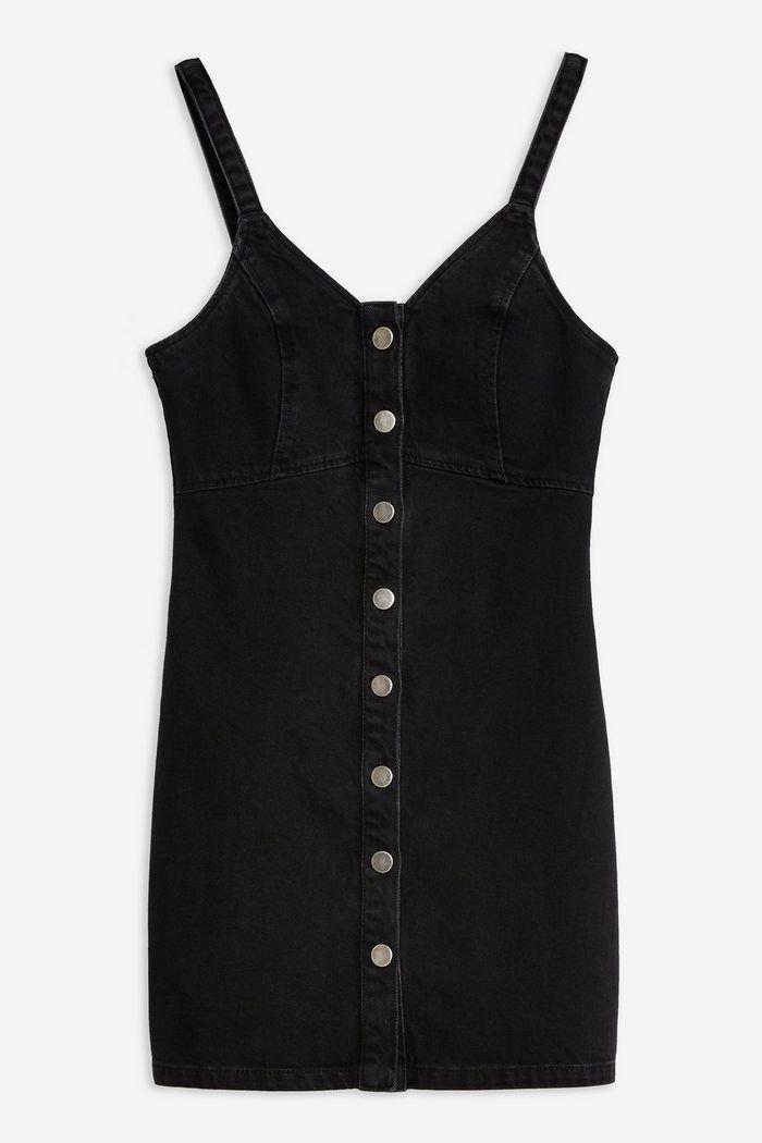 Button Denim Bodycon Dress | Topshop