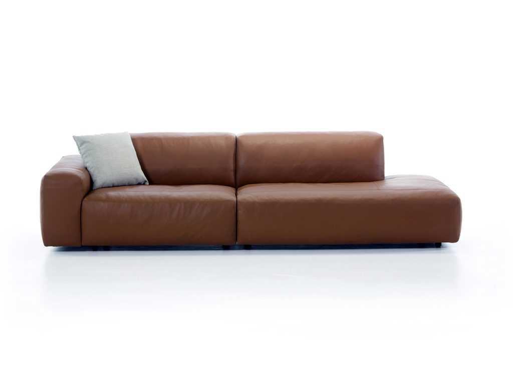 Brown Leather Cloud Sofa
