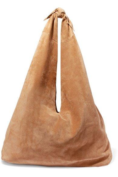 The Row | Bindle suede shoulder bag | NET-A-PORTER.COM