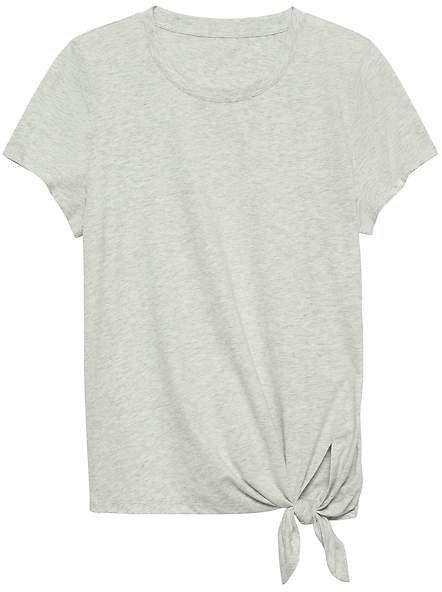 SUPIMA® Cotton Tie-Hem T-Shirt