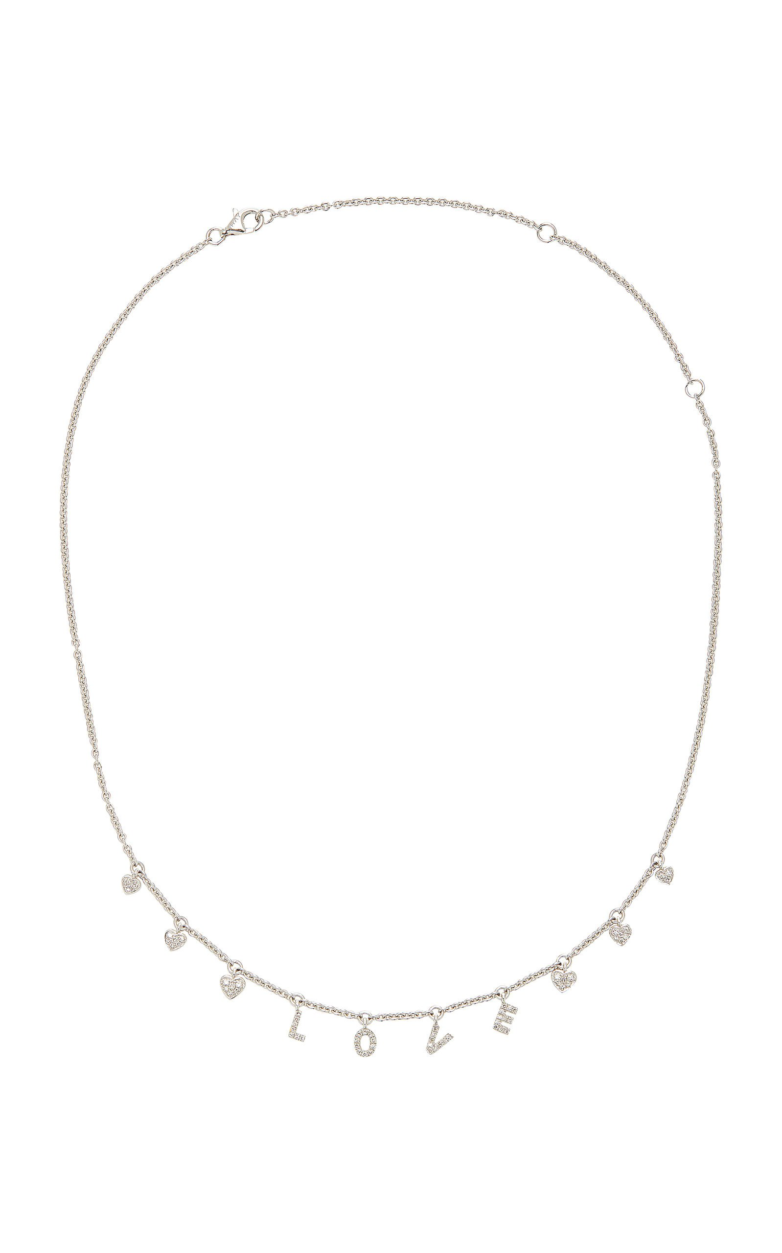 18K White Gold Diamond Necklace by Shay