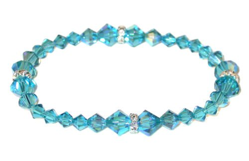 INDICOLITE TEAL Crystal Stretch-on Bracelet Swarovski Elements   eBay
