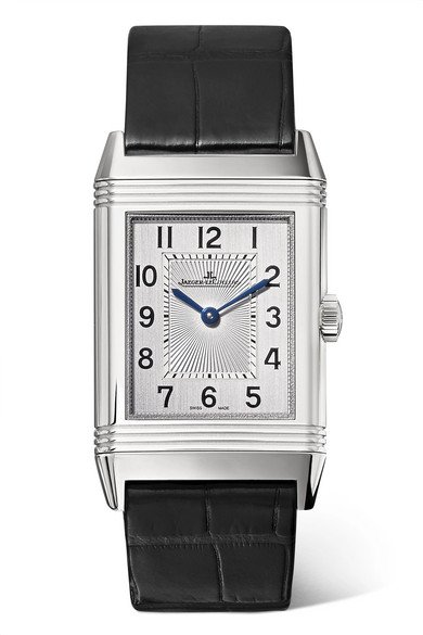 Jaeger-LeCoultre   Reverso Classic Medium Thin 24.4mm stainless steel and alligator watch   NET-A-PORTER.COM