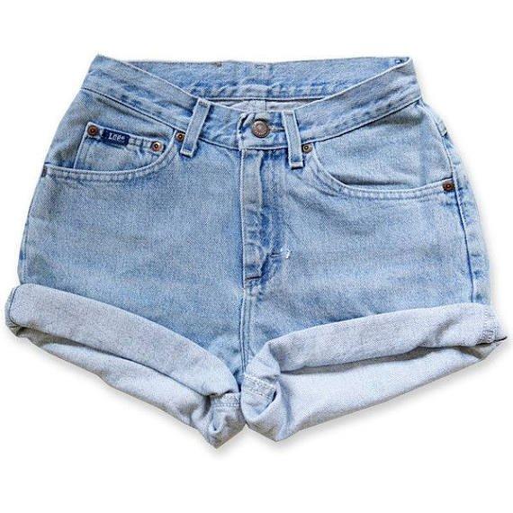 Levi Brand High Waisted Vintage Plain Denim Shorts