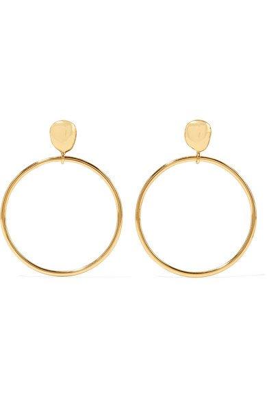 Dinosaur Designs   Mineral gold-plated hoop earrings   NET-A-PORTER.COM