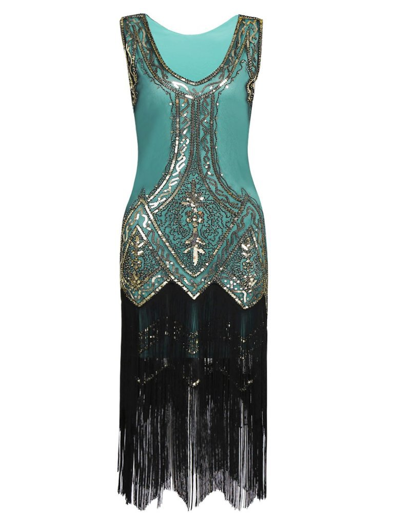 1920s Beaded Fringed Dress – Retro Stage - Chic Vintage Dresses and Accessories