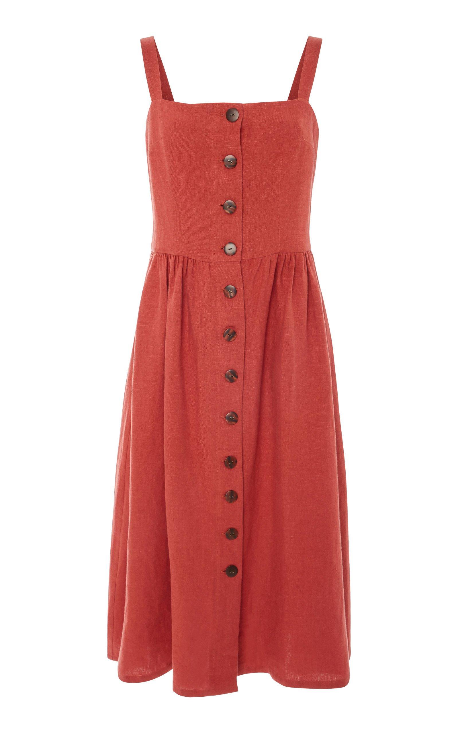 M'O Exclusive Postinon Button Front Dress by ALBUS LUMEN | Moda Operandi