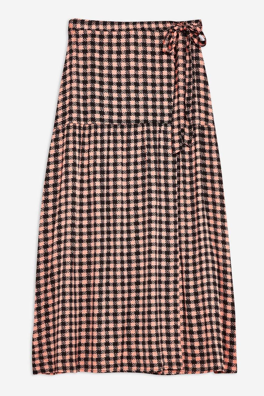 Check Wrap Midi Skirt - Skirts - Clothing - Topshop USA