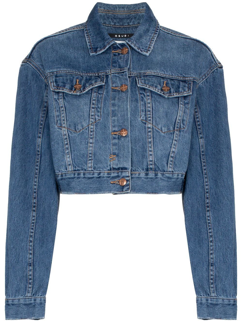 Ksubi Jett Cropped Denim Jacket - Farfetch