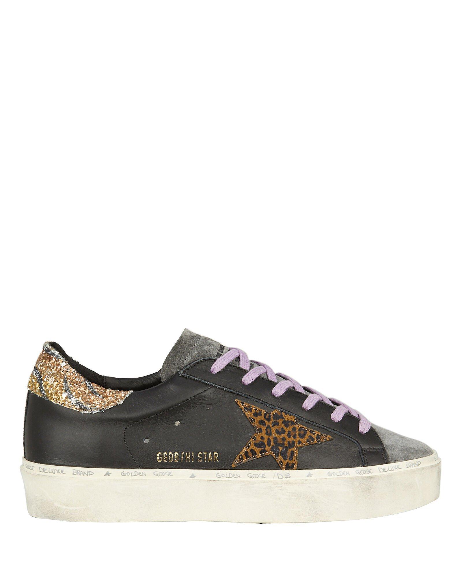 Hi Star Black Leather Sneakers