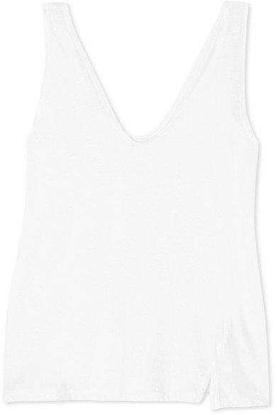 Bassike   + NET SUSTAIN organic cotton-jersey tank   NET-A-PORTER.COM