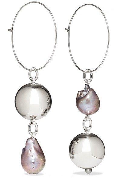 Mounser   Pagoda Fruit rhodium-plated pearl earrings   NET-A-PORTER.COM