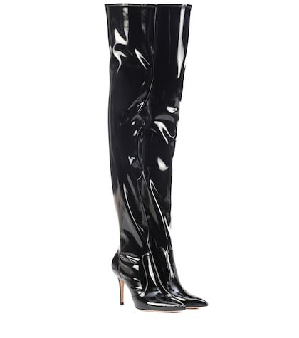 Imogen vinyl over-the-knee boots