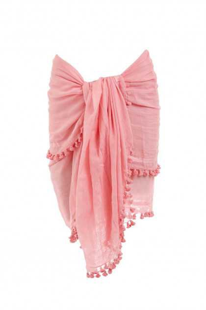 Pareo Beach Sarong Cover Up in Rose | Melissa Odabash