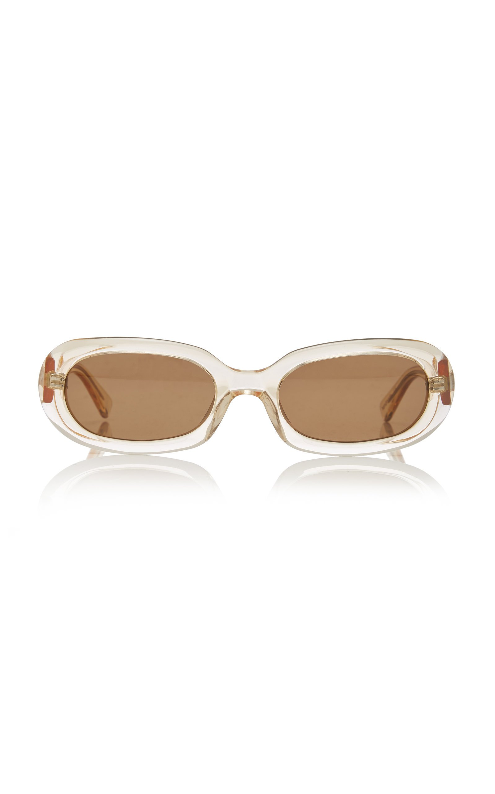 POMS Retta Oval-Frame Tortoiseshell Acetate Sunglasses