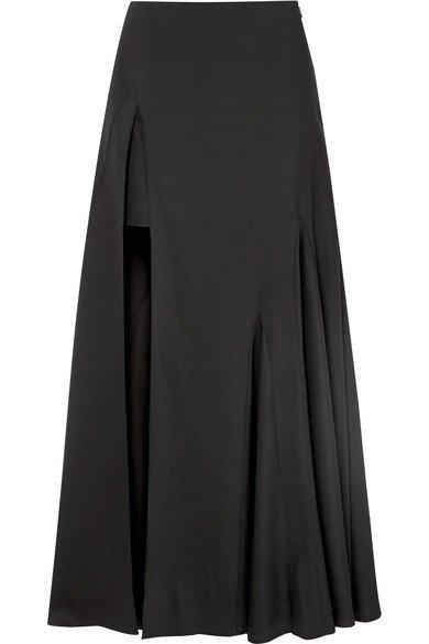 Jacquemus   Faya asymmetric crepe maxi skirt   NET-A-PORTER.COM