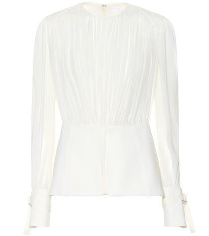 Silk pongé blouse