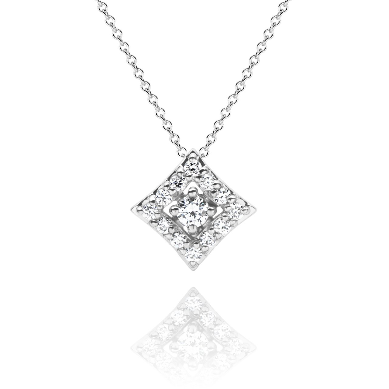 Regalo Diamond Pendant in 14k White Gold by GiGi Ferranti