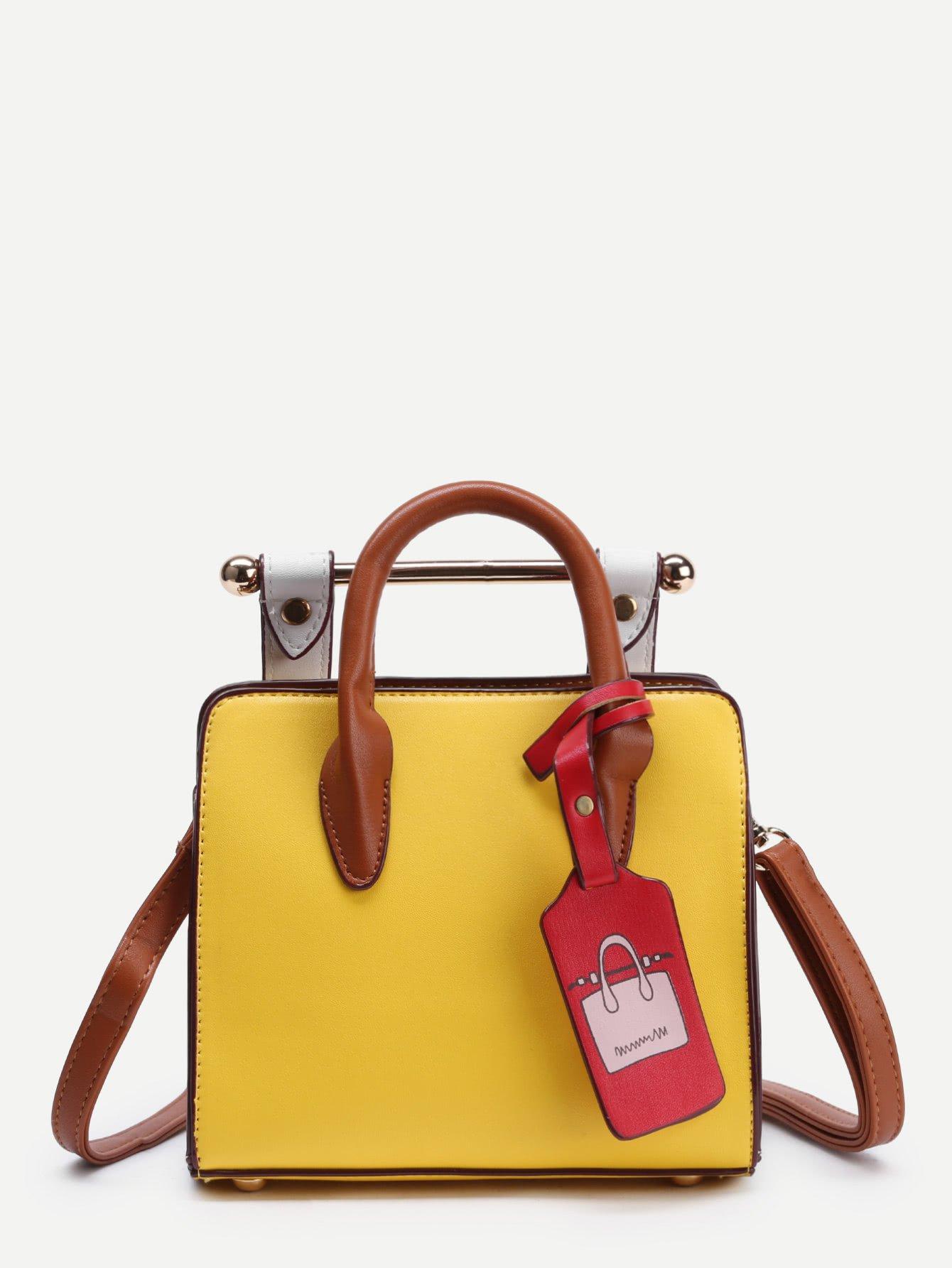 Structured Shoulder Bag With Handle