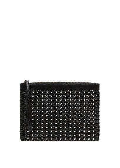 MANGO Braided zipped cosmetic bag