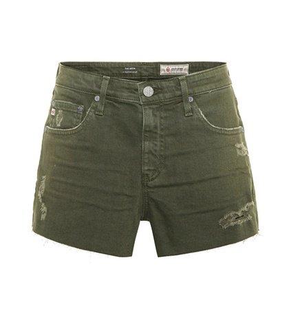The Bryn distressed denim shorts