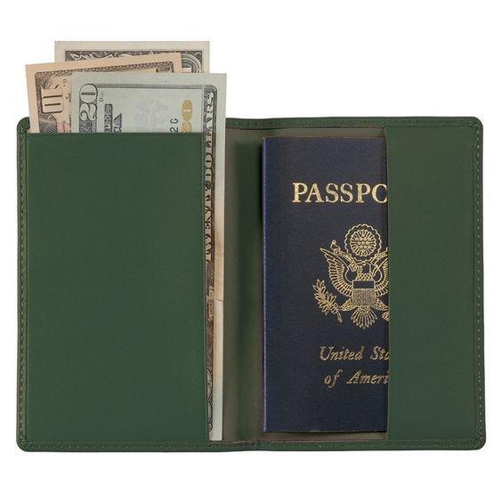 Green passport case