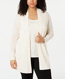 Anne Klein Plus Size Malibu Cardigan & Reviews - Sweaters - Plus Sizes - Macy's