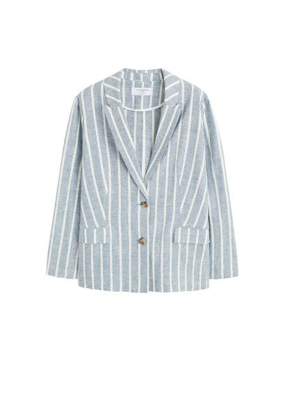 Violeta BY MANGO Striped linen blazer