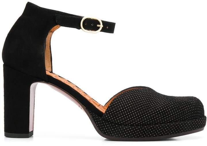 Dara block heel pumps