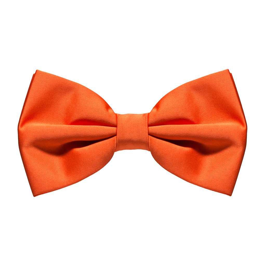Orange bow tie