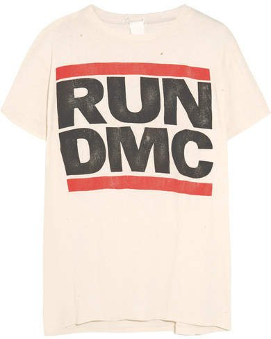 MadeWorn - Run Dmc Distressed Printed Cotton-jersey T-shirt
