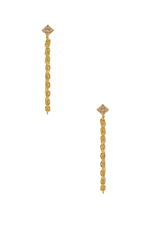 Shimmering Star Chain Earring
