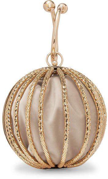 Emma Gold-tone And Velvet Clutch