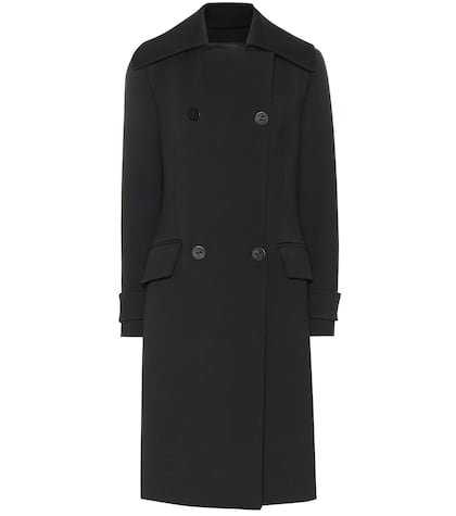 Double-breasted cotton-blend coat