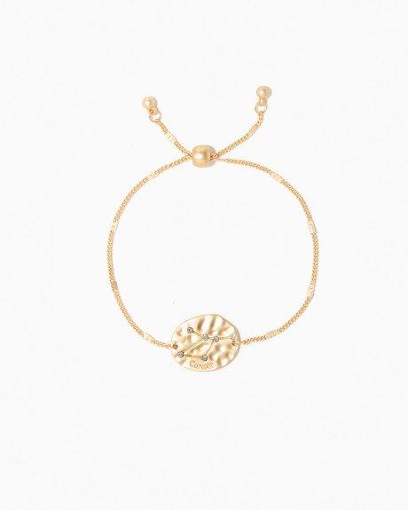 Gold Cancer Bracelet