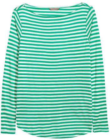 H&M+ Long-sleeved Top - Green